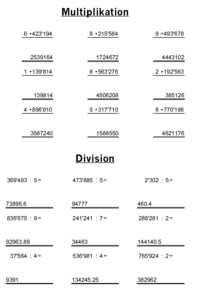 prepolino.ch :: Mathematik :: Schriftliches Rechnen :: Material zur ...